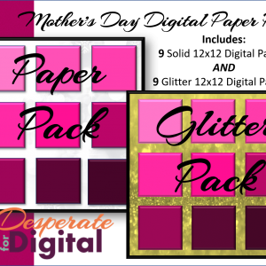 Mothers Day Digital Paper Pack